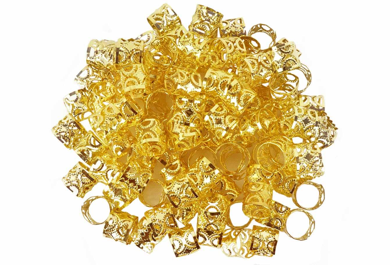 Anéis para Tranças Pacote com 100 un - Diamante