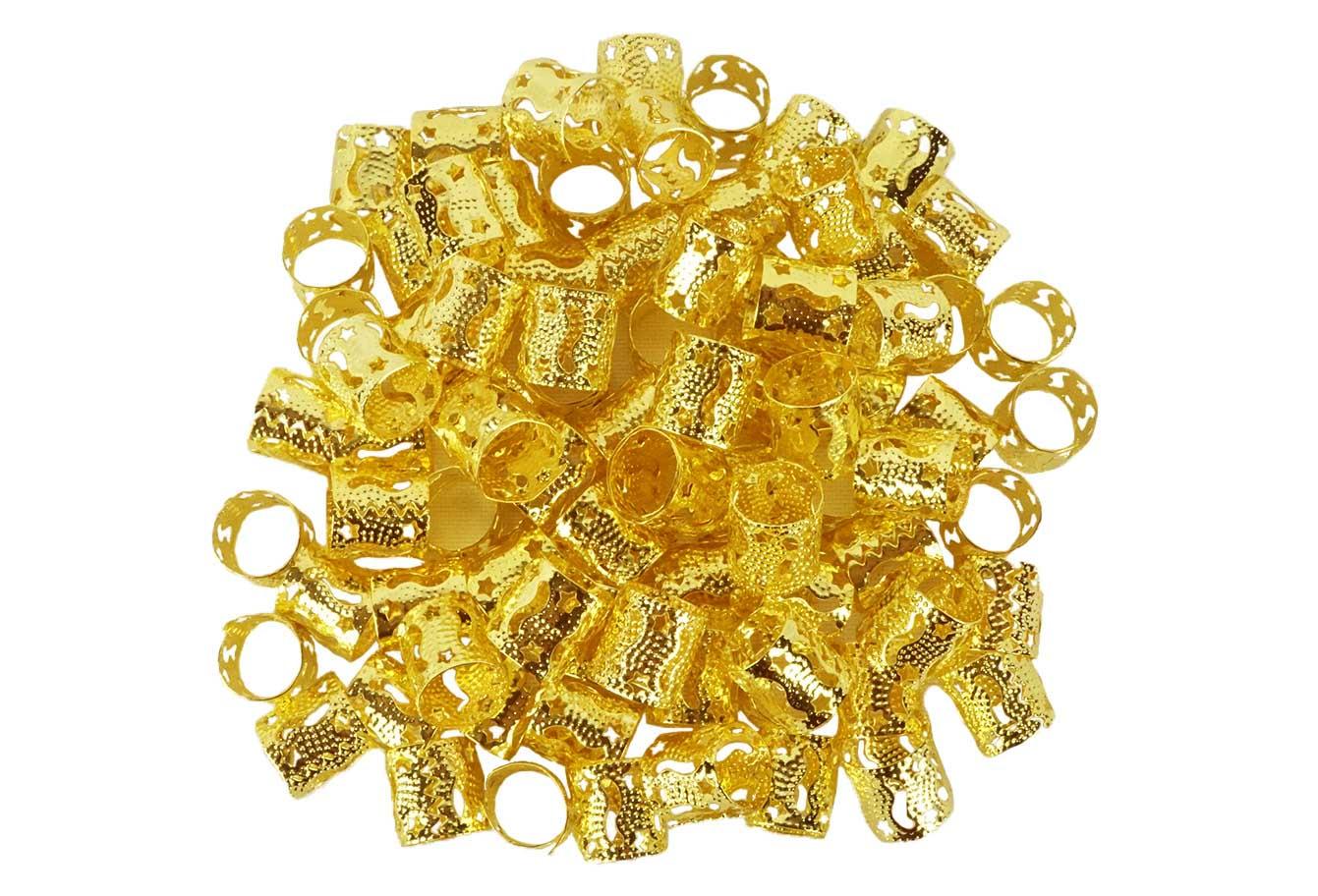 Anéis para Tranças Pacote com 100 un - Estrela