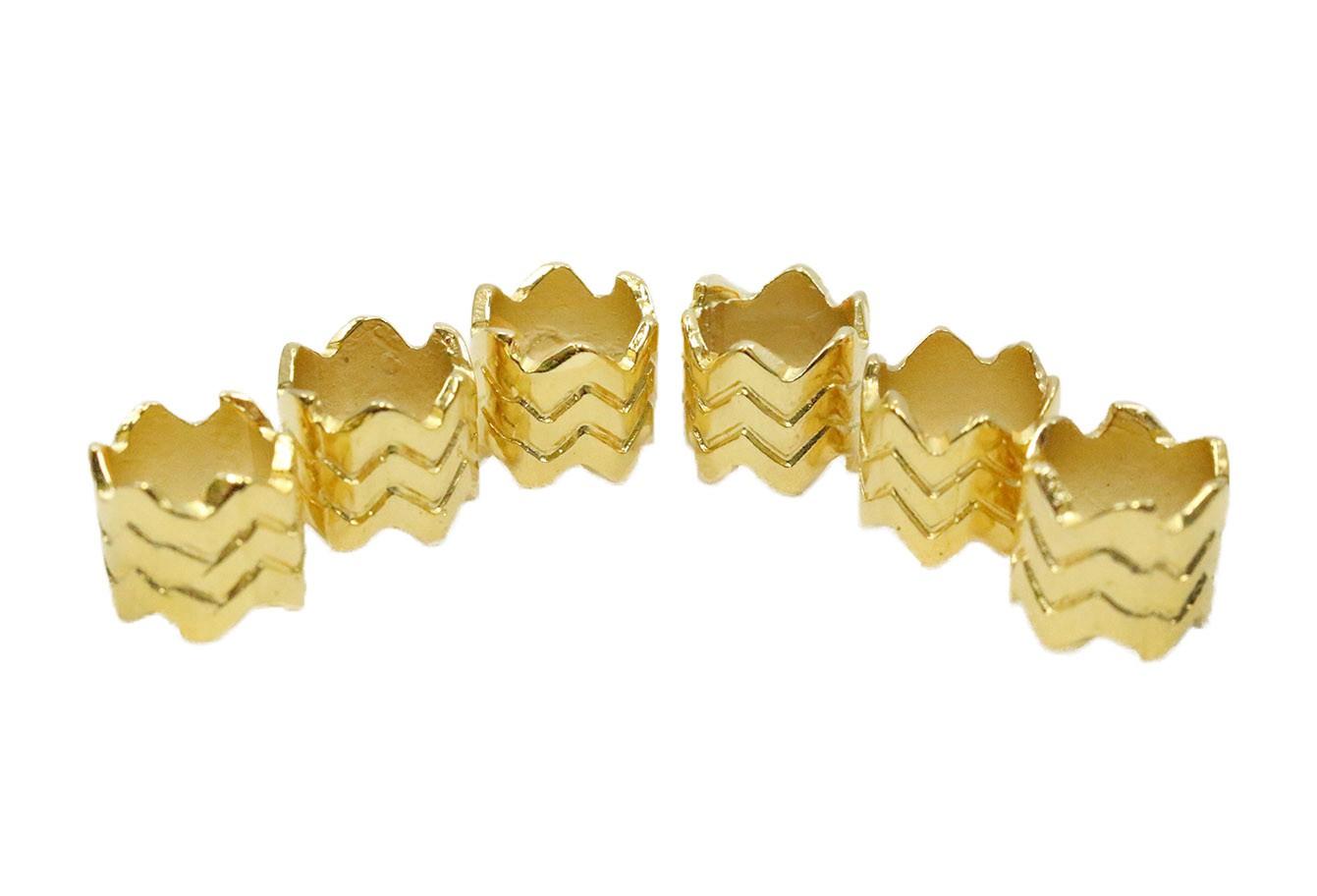 Anel Para Tranças - 3678 - Dourado