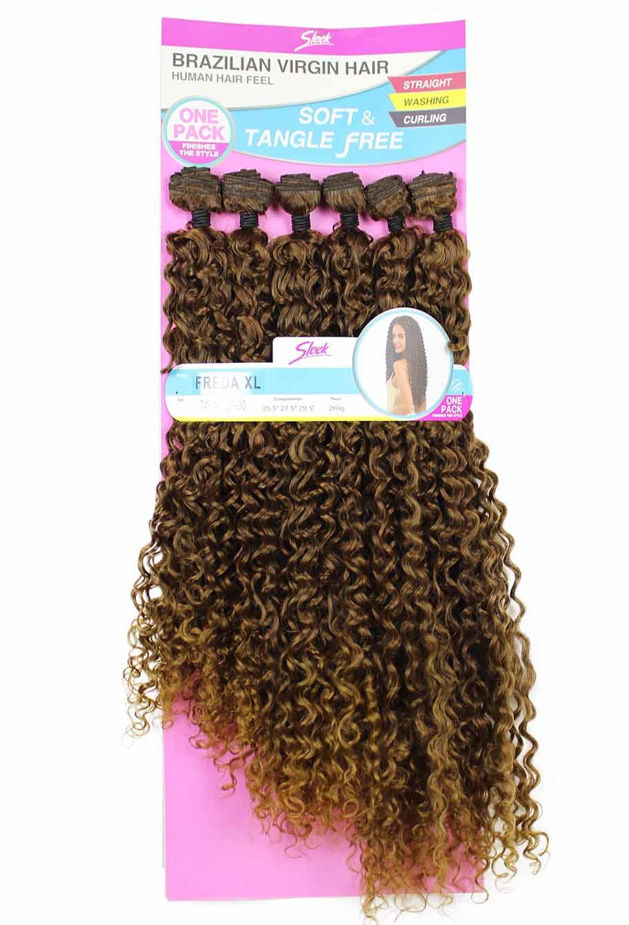 Cabelo Bio Vegetal Sleek Brazilian Virgin Hair Freda XL