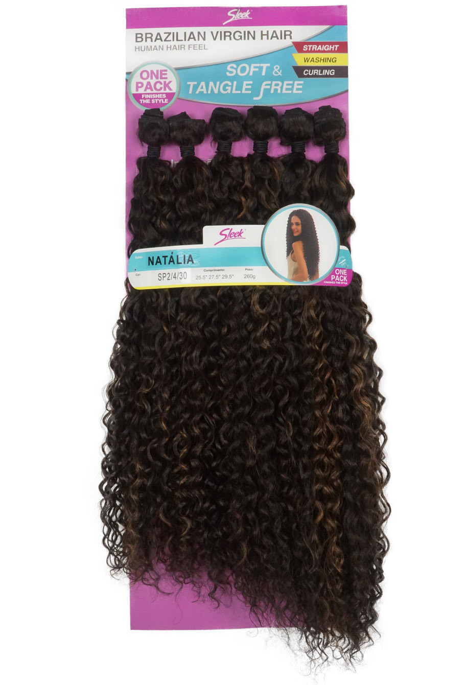 Cabelo Bio Vegetal - Sleek Brazilian Virgin Hair - Natália