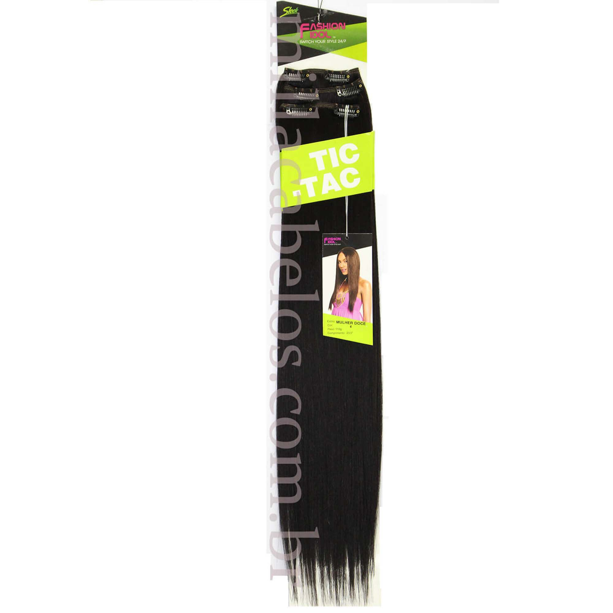 Cabelo Orgânico - Sleek Fashion Idol Tic Tac - Mulher Doce