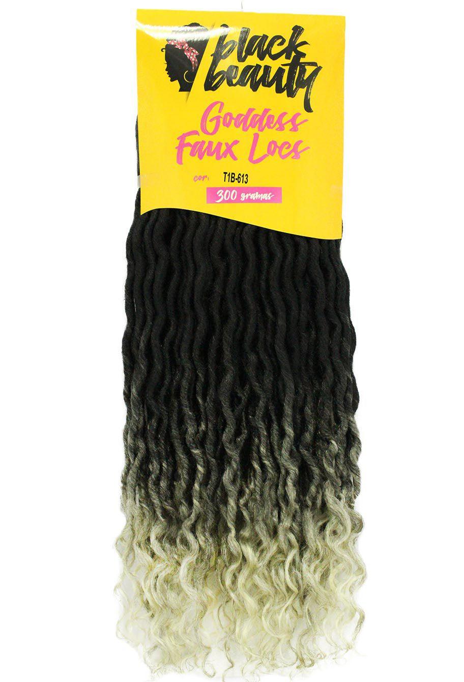 Cabelo Sintético - Black Beauty - Goddess Faux Locs