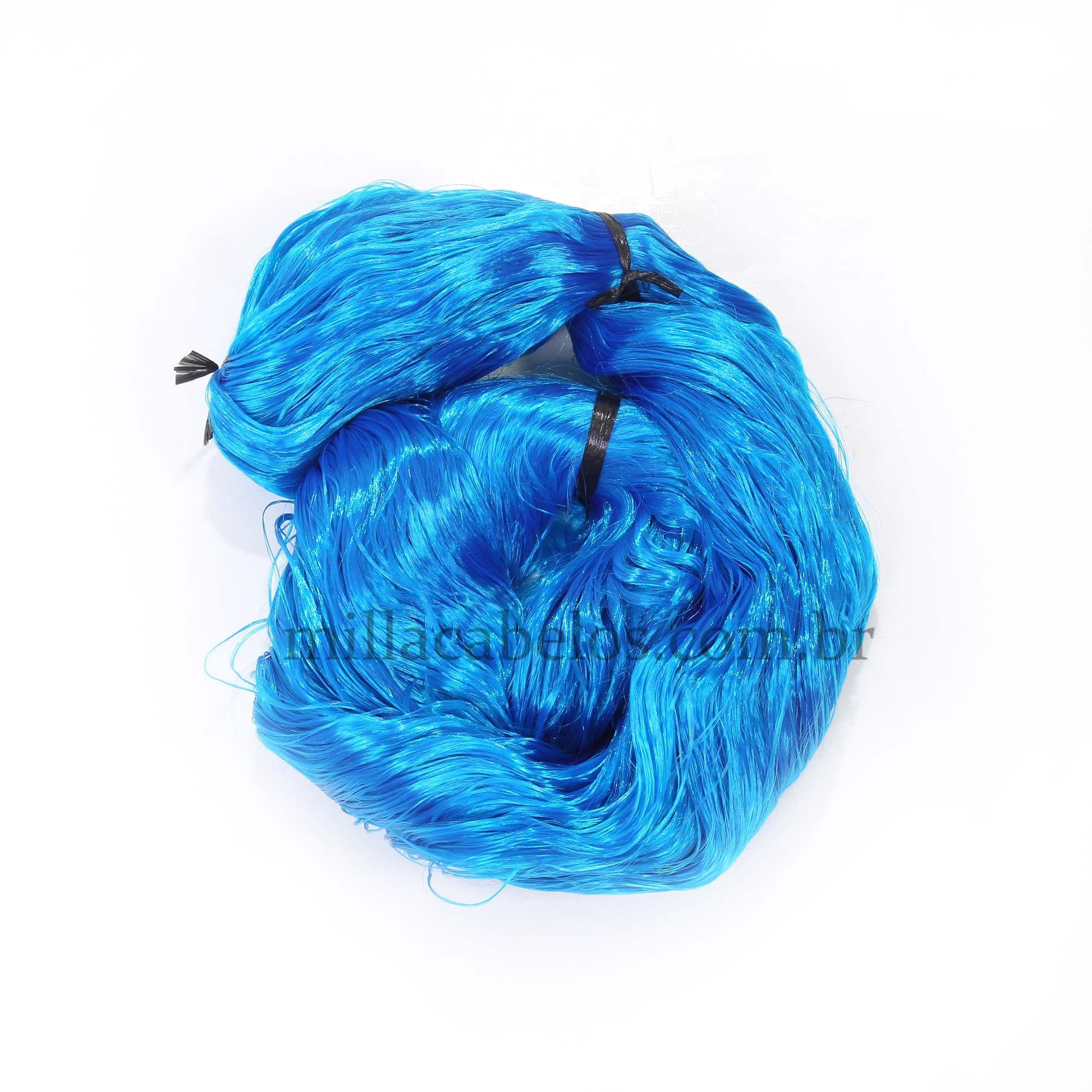 Cabelo Sintético - Fio de Fibra Nacional - Cor: Azul Claro