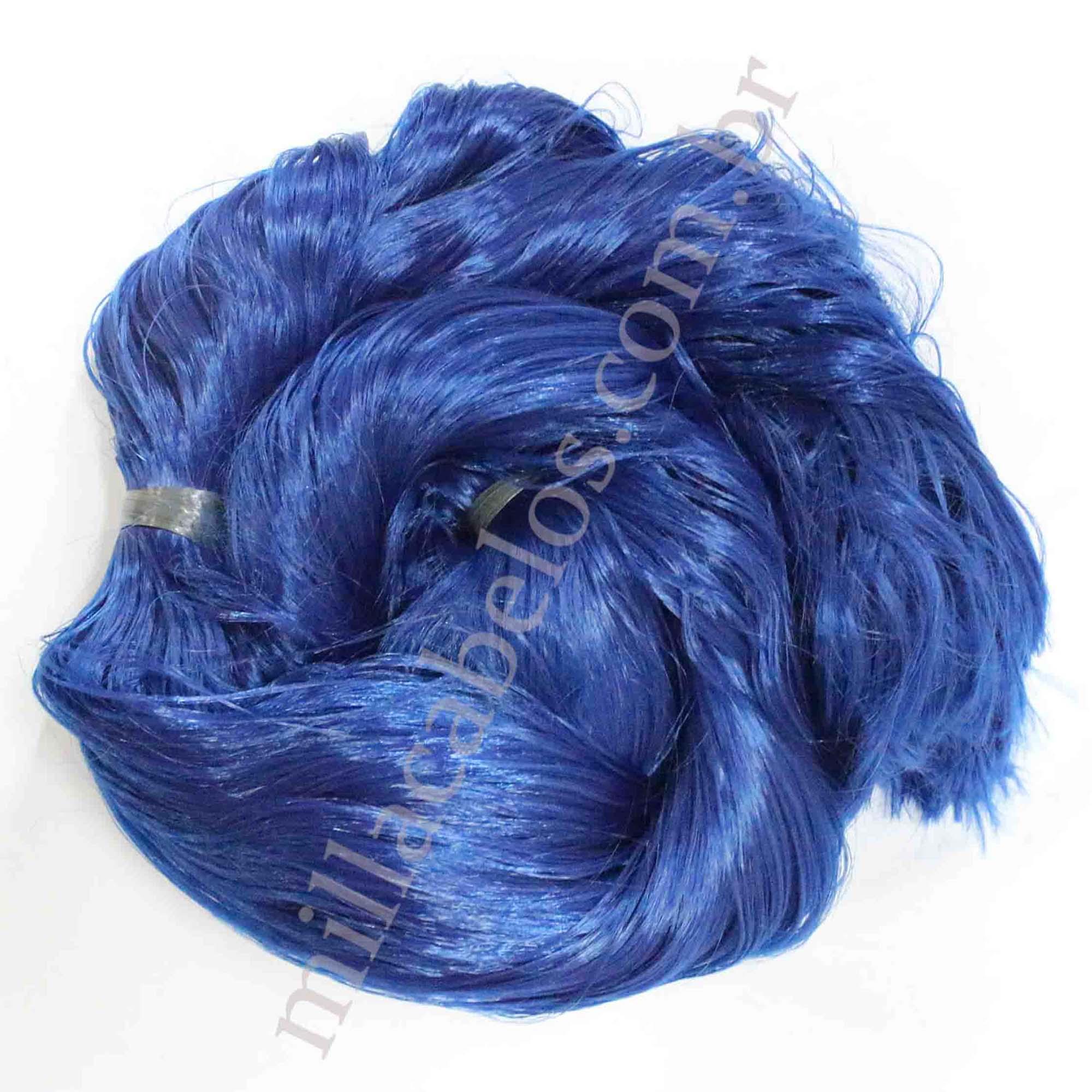 Cabelo Sintético - Fio de Fibra Nacional - Cor: Azul Escuro