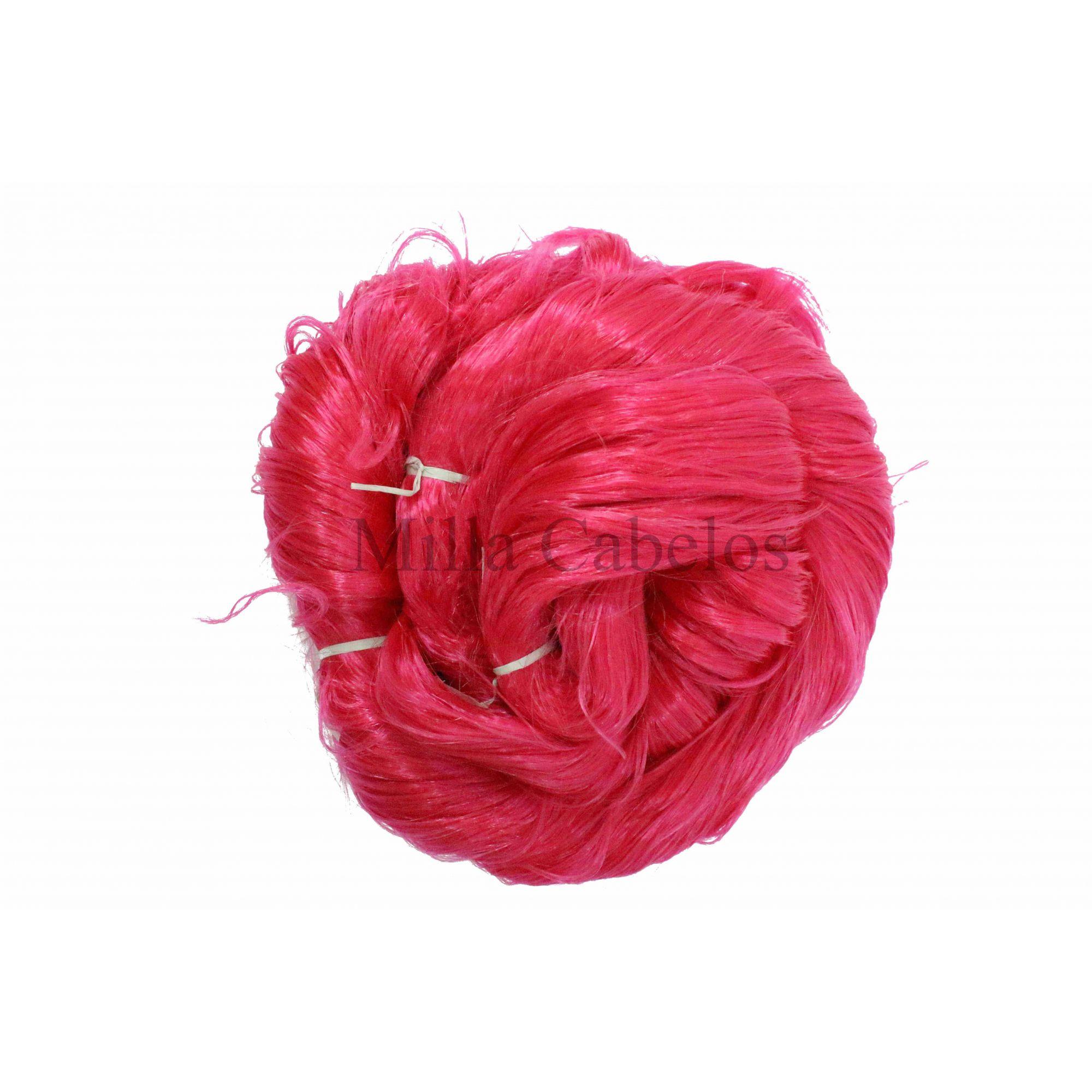 Cabelo Sintético - Fio de Fibra Nacional - Cor: Rosa Pink