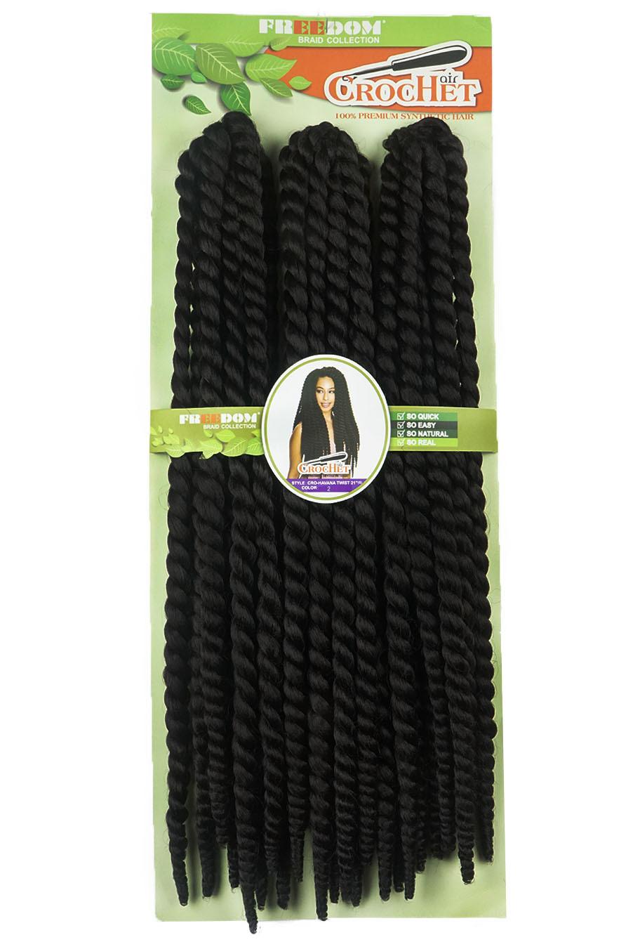 Cabelo Sintético - Freedom - Havana Twist 21' (Crochet Braid)
