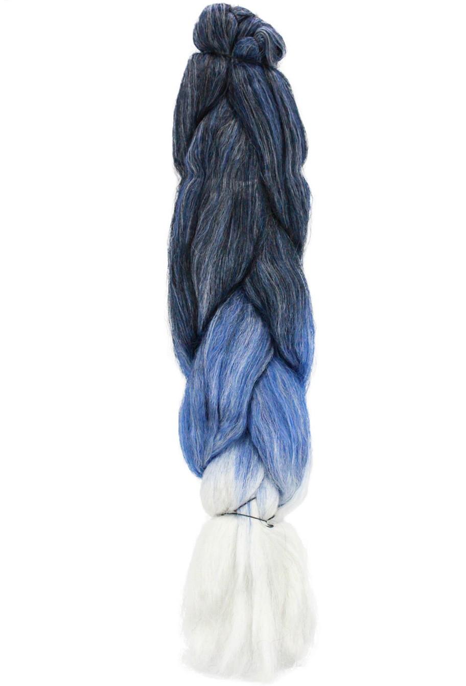Cabelo Sintético - Ser Mulher - Jumbo (399g) - Cor: Preto com Azul Escuro e Branco (T1B/D.Blue/White)