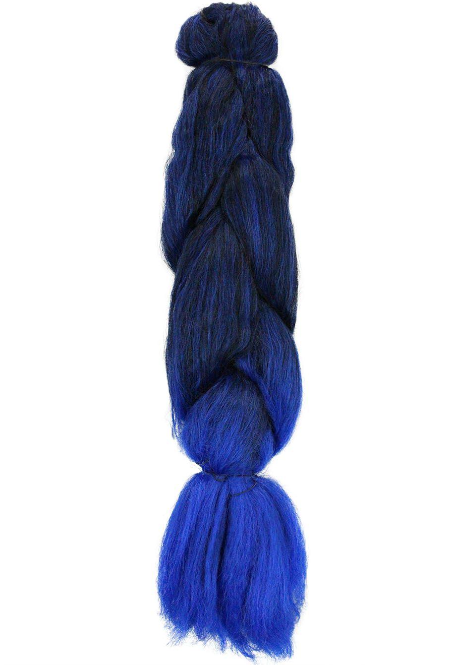 Cabelo Sintético - Ser Mulher - Jumbo (399g) - Cor: Preto com Azul (T1B/BLUE)