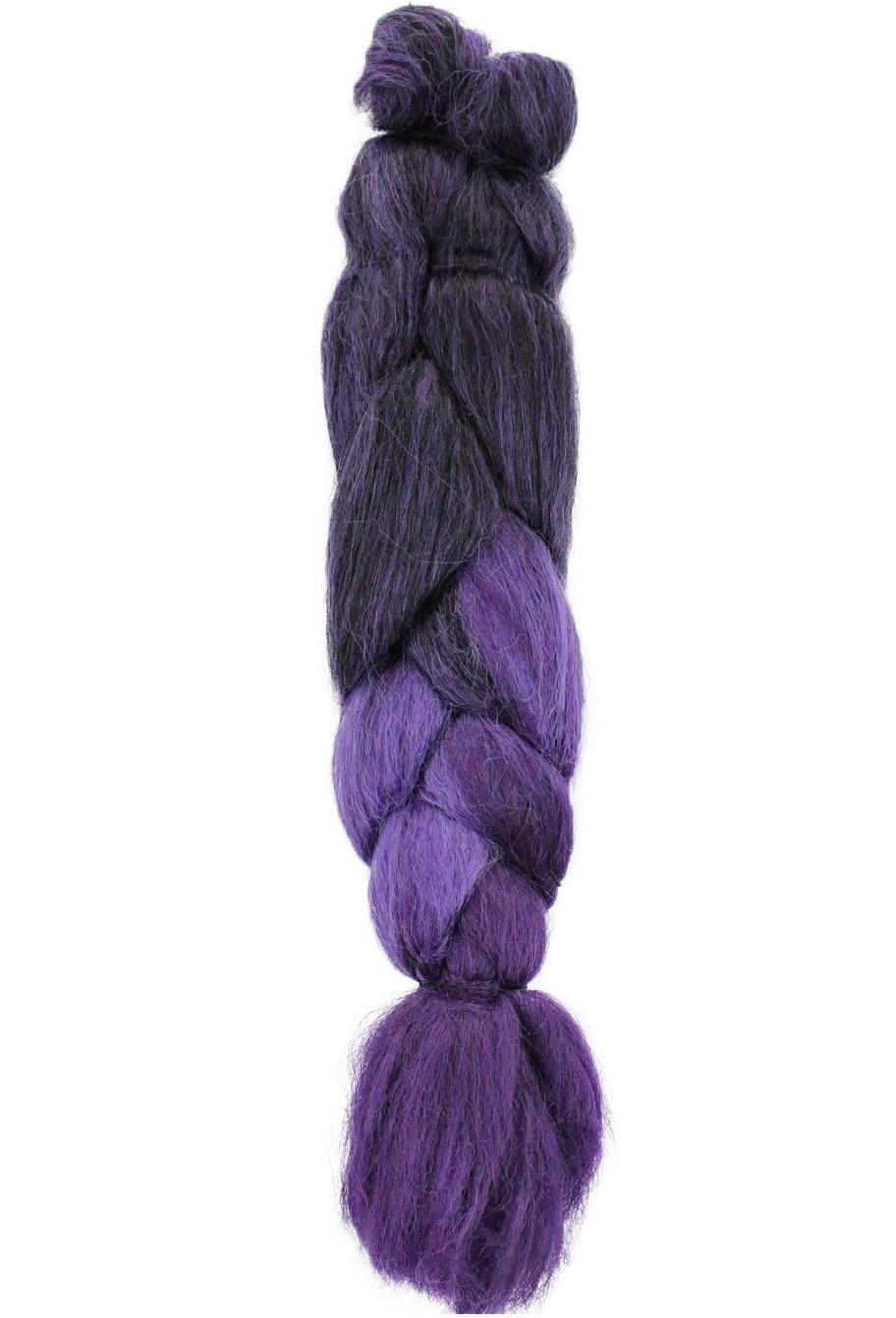Cabelo Sintético - Ser Mulher - Jumbo (399g) - Cor: Preto com Roxo e Roxo Escuro (T1B/L.Purple/D.Purple)