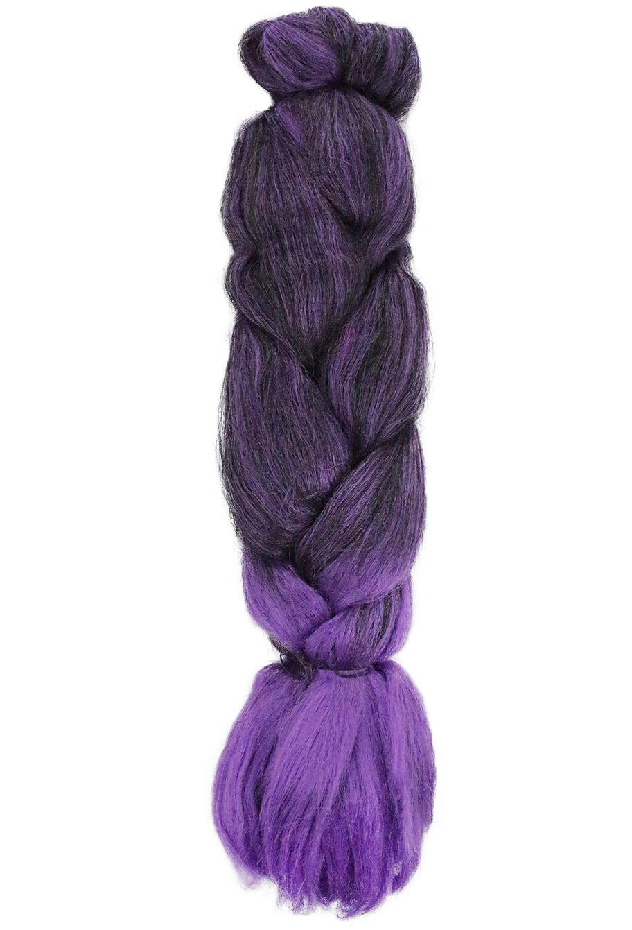 Cabelo Sintético - Ser Mulher - Jumbo (399g) - Cor: Preto com Roxo (T1B/Purple)