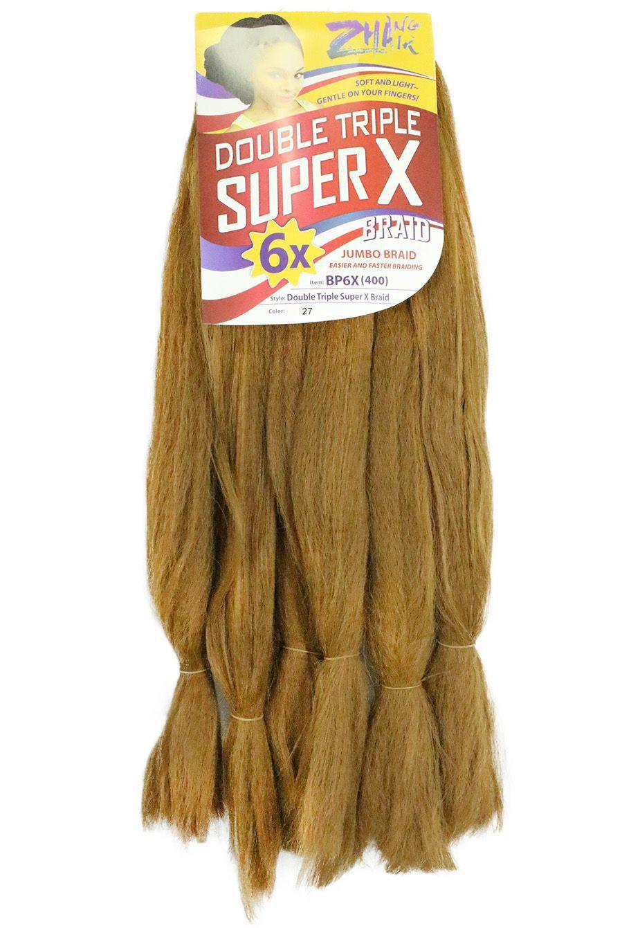 Cabelo Sintético - Zhang hair jumbo - Super X (400g) - Cor: Mel (27)