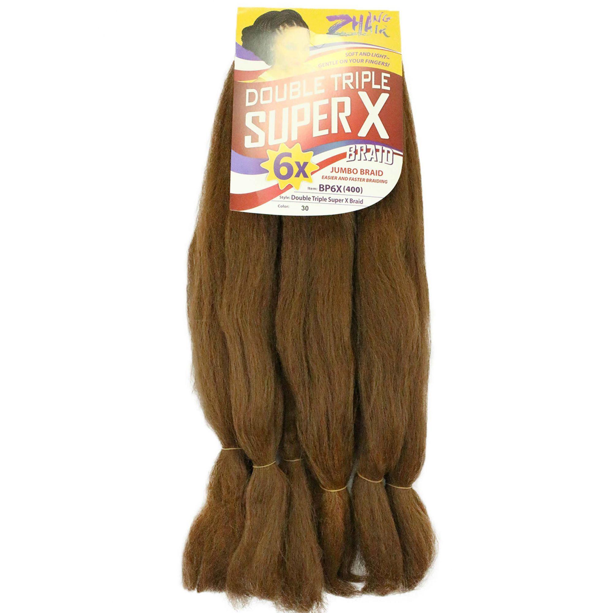 Cabelo Sintético - Zhang hair jumbo - Super X (400g) - Cor: Mel Escuro (30)