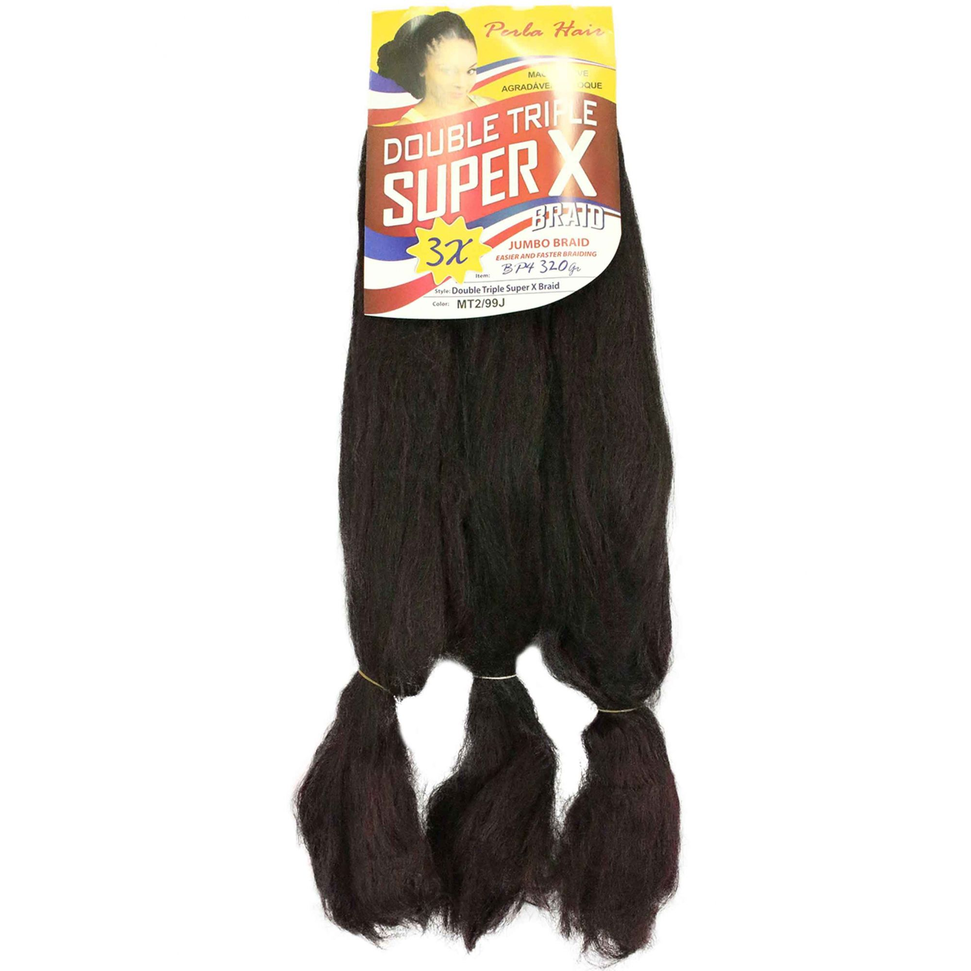 Cabelo Sintético - Zhang hair jumbo - Super X (400g) - Cor: Castanho escuro com Acaju (MT2/99J)