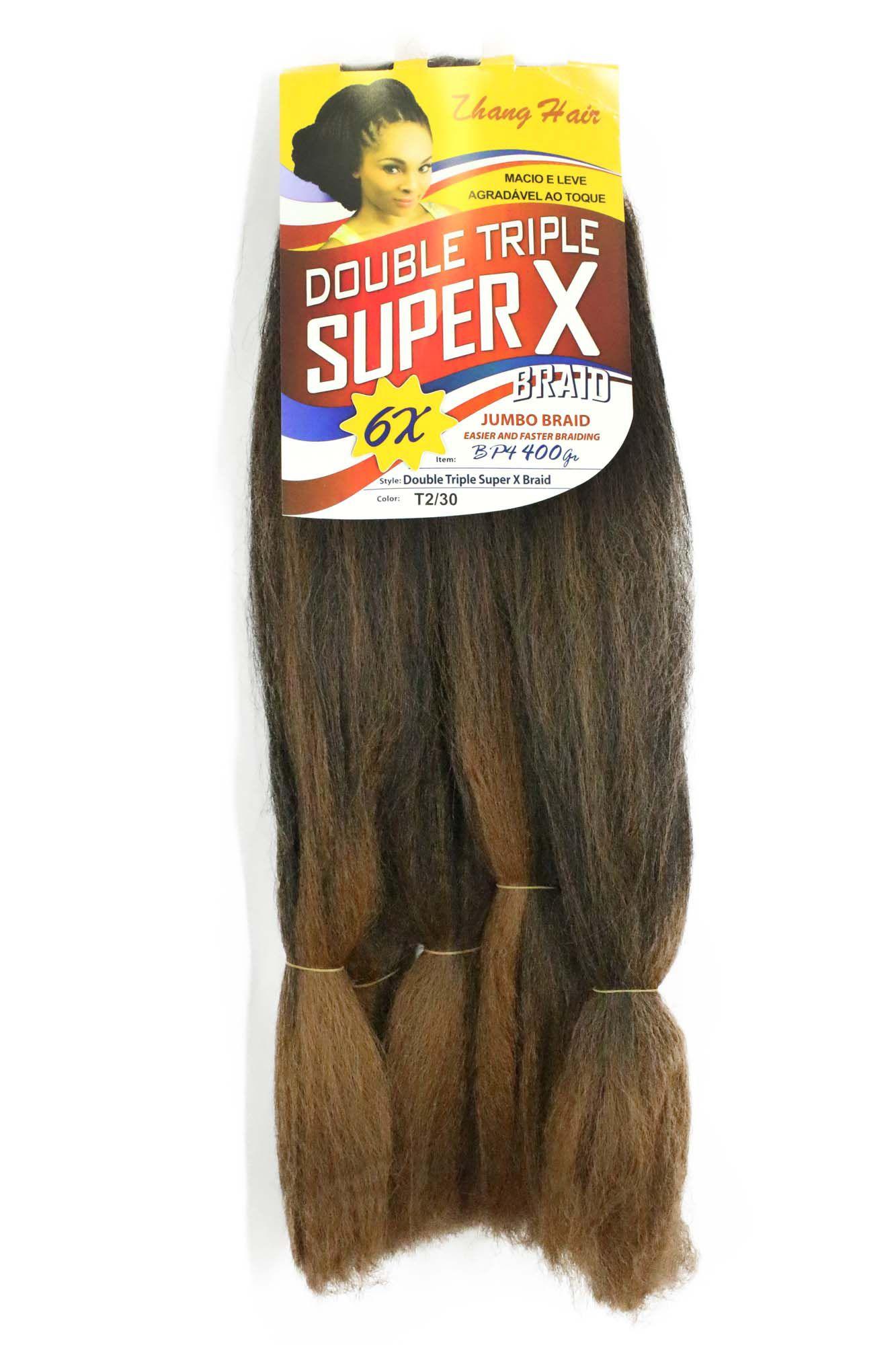 Cabelo Sintético - Zhang hair jumbo - Super X (400g) - Cor: Castanho escuro com Cobre (T2/30)