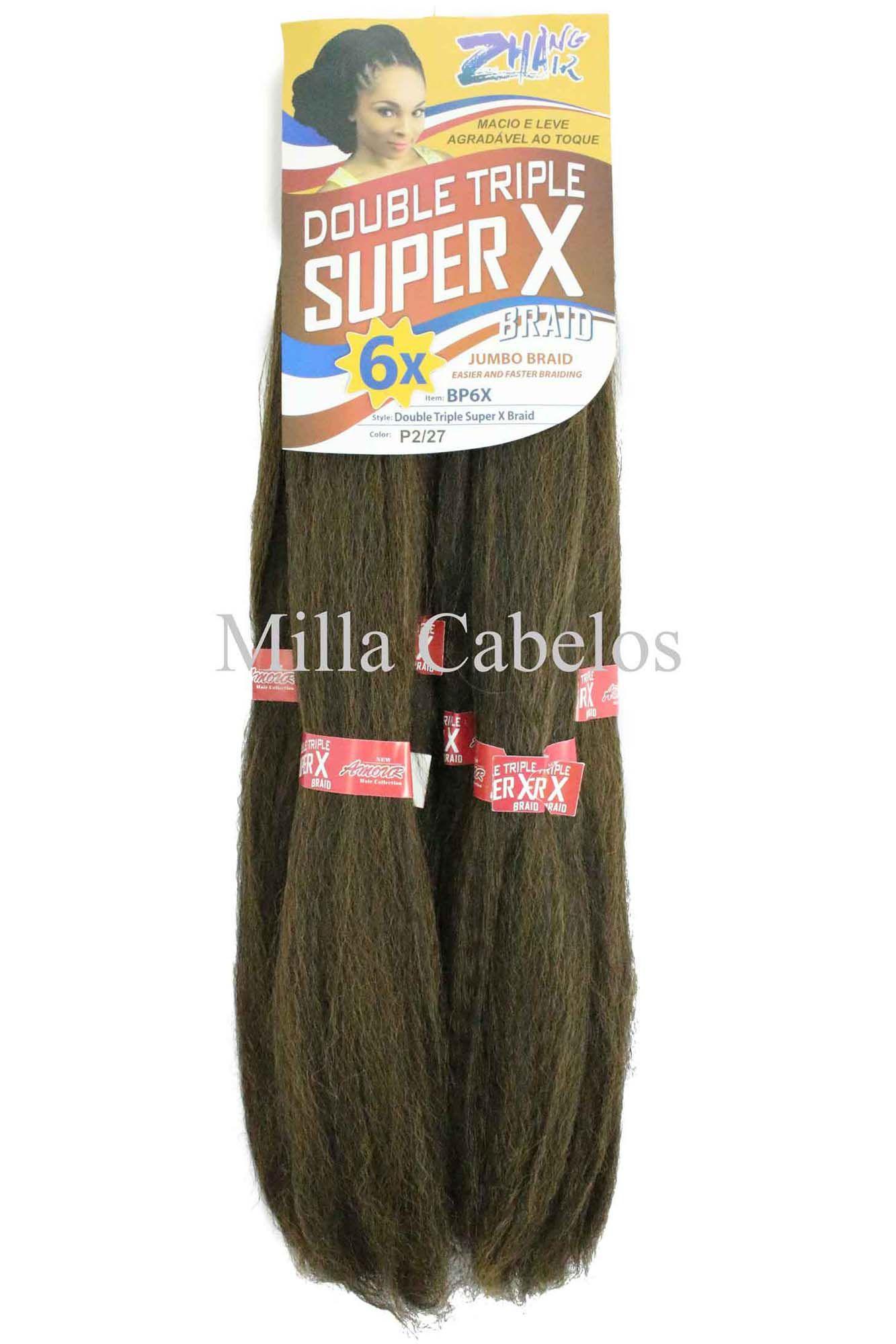 Cabelo Sintético - Zhang hair jumbo - Super X (400g) - Cor: Castanho Escuro com Mel (P2/27)