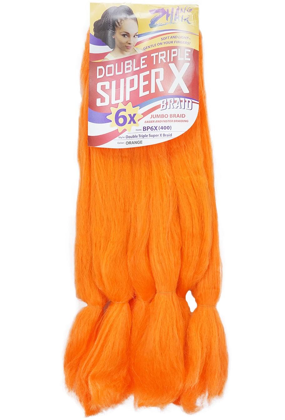 Cabelo Sintético - Zhang hair jumbo - Super X (400g) - Cor: Laranja (Orange)