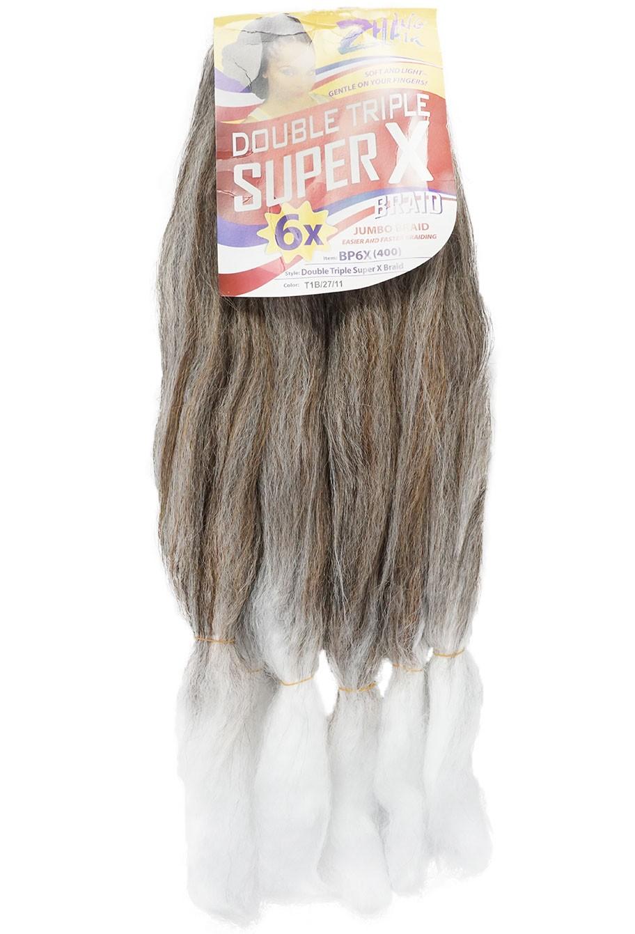 Cabelo Sintético - Zhang hair jumbo - Super X (400g) - Cor: Preto com Mel e Branco (T1B/27/11)