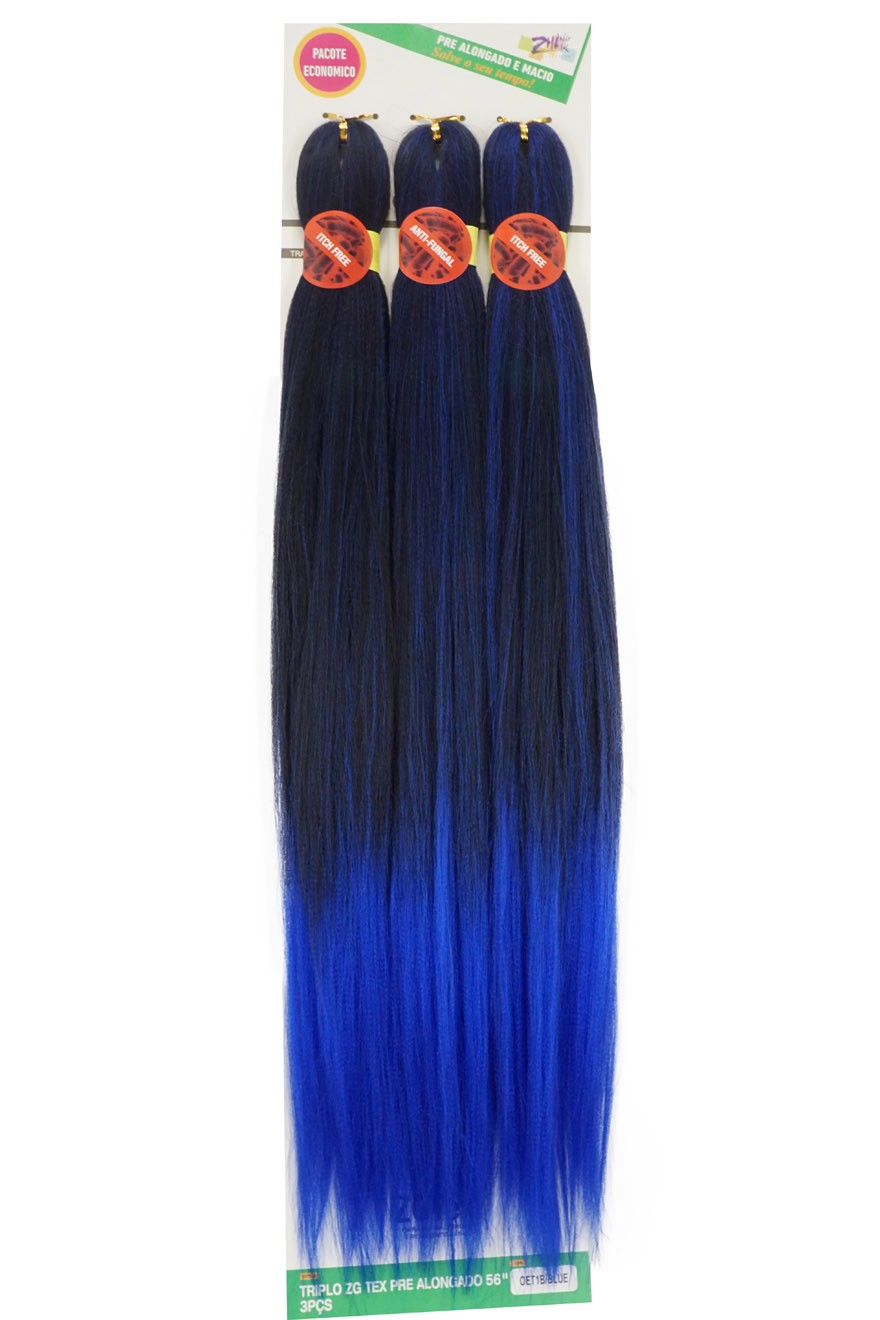 Jumbo - Zhang Hair - ZGTex (190g) - Cor: OET1B/BLUE