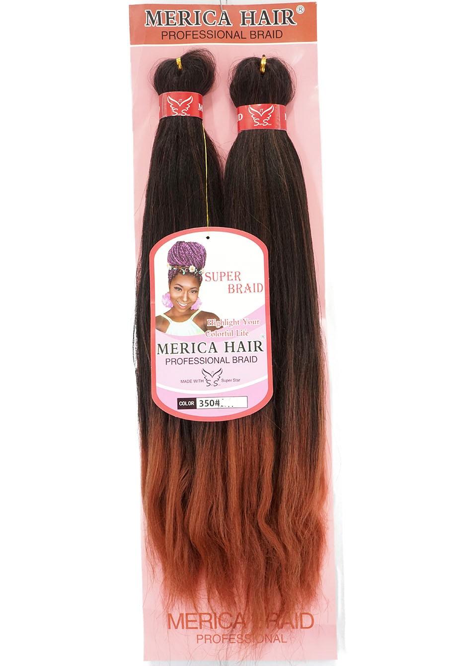 Jumbo - Merica Hair (146G) - Cor: Preto com Marsala (T1B/350)