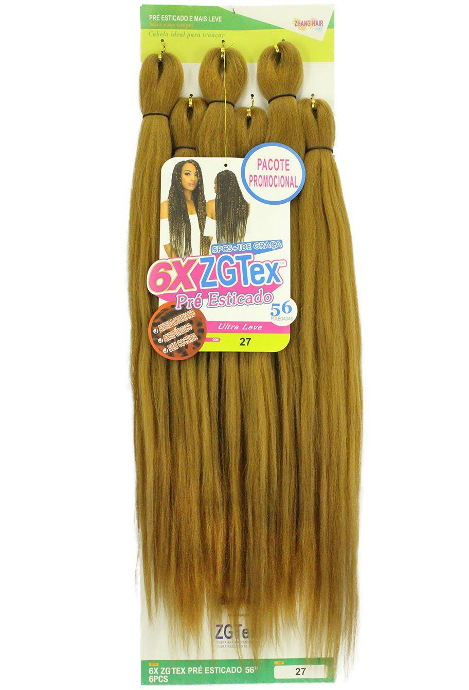 Jumbo - Zhang Hair - 6X ZGTex (400g) - Cor: 27