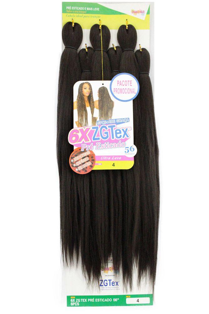 Jumbo - Zhang Hair - 6X ZGTex (400g) - Cor: 4
