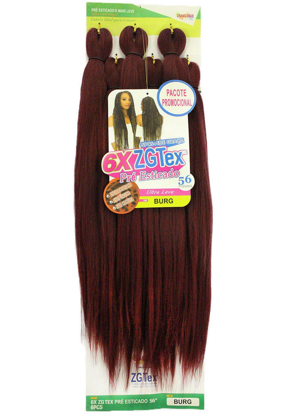 Jumbo - Zhang Hair - 6X ZGTex (400g) - Cor: BURG