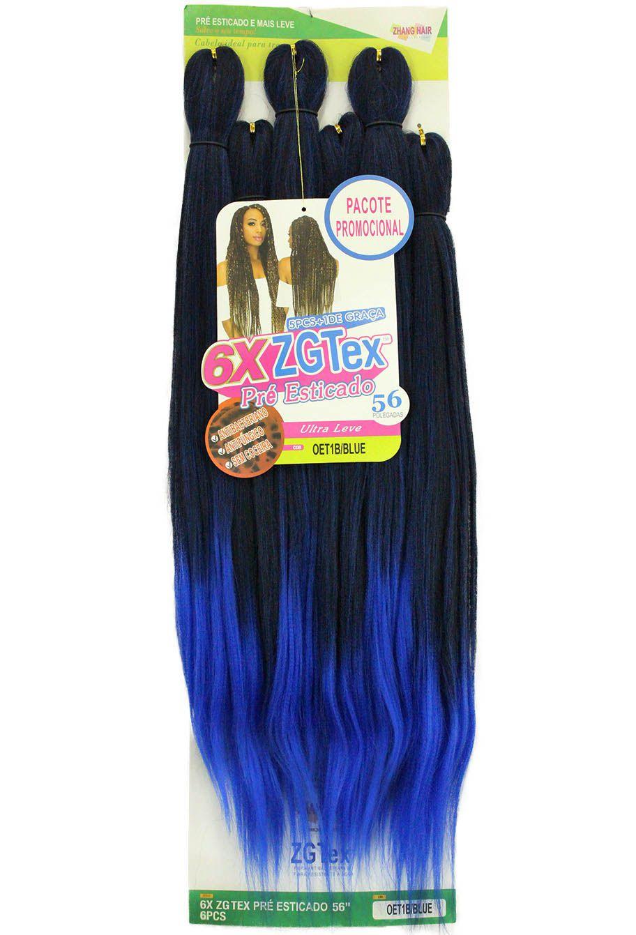 Jumbo - Zhang Hair - 6X ZGTex (400g) - Cor: OET1B/BLUE