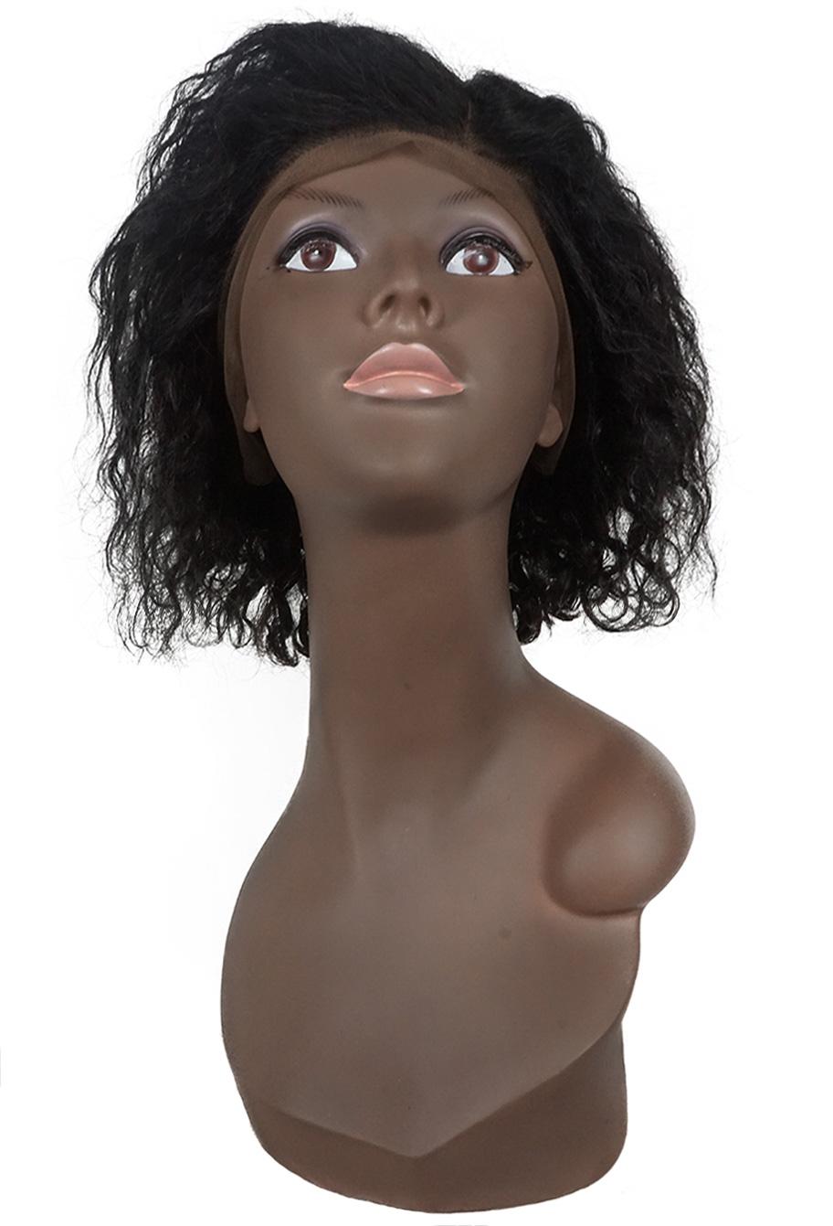 Peruca de cabelo humano wig Front/Top Lace - Brave