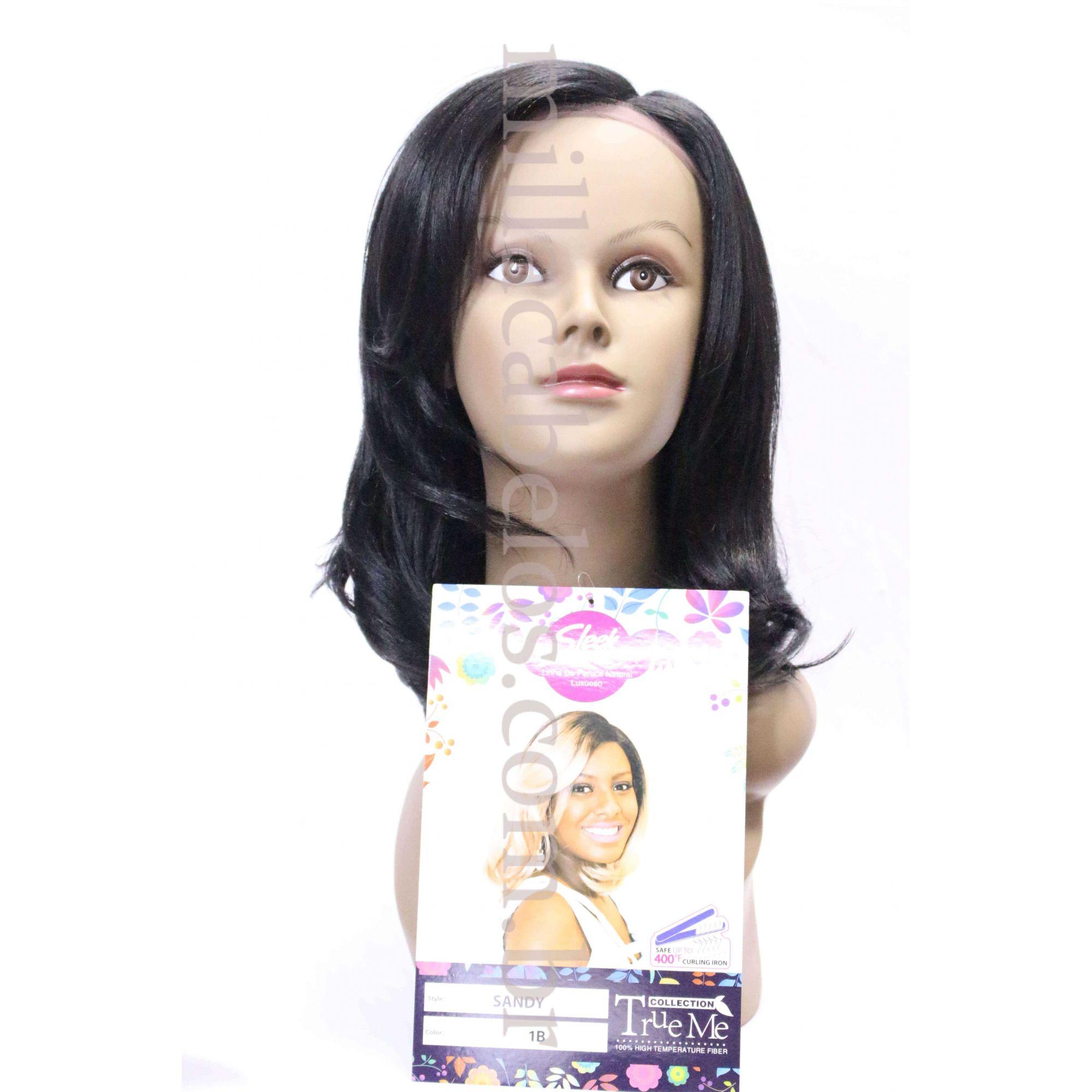 Peruca Orgânica - Front Lace Sleek Wig Fashion - Sandy