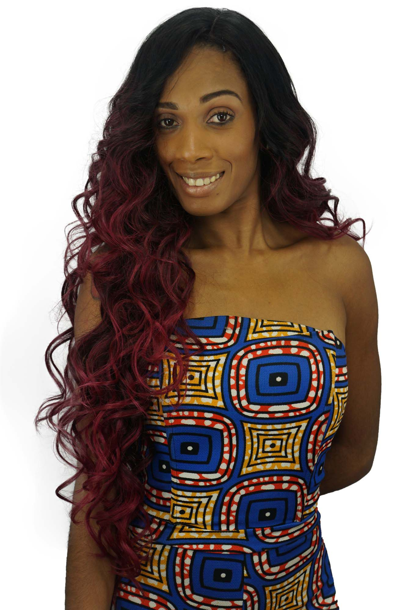 Peruca Orgânica - Front Lace Sleek Wig Fashion - Summer