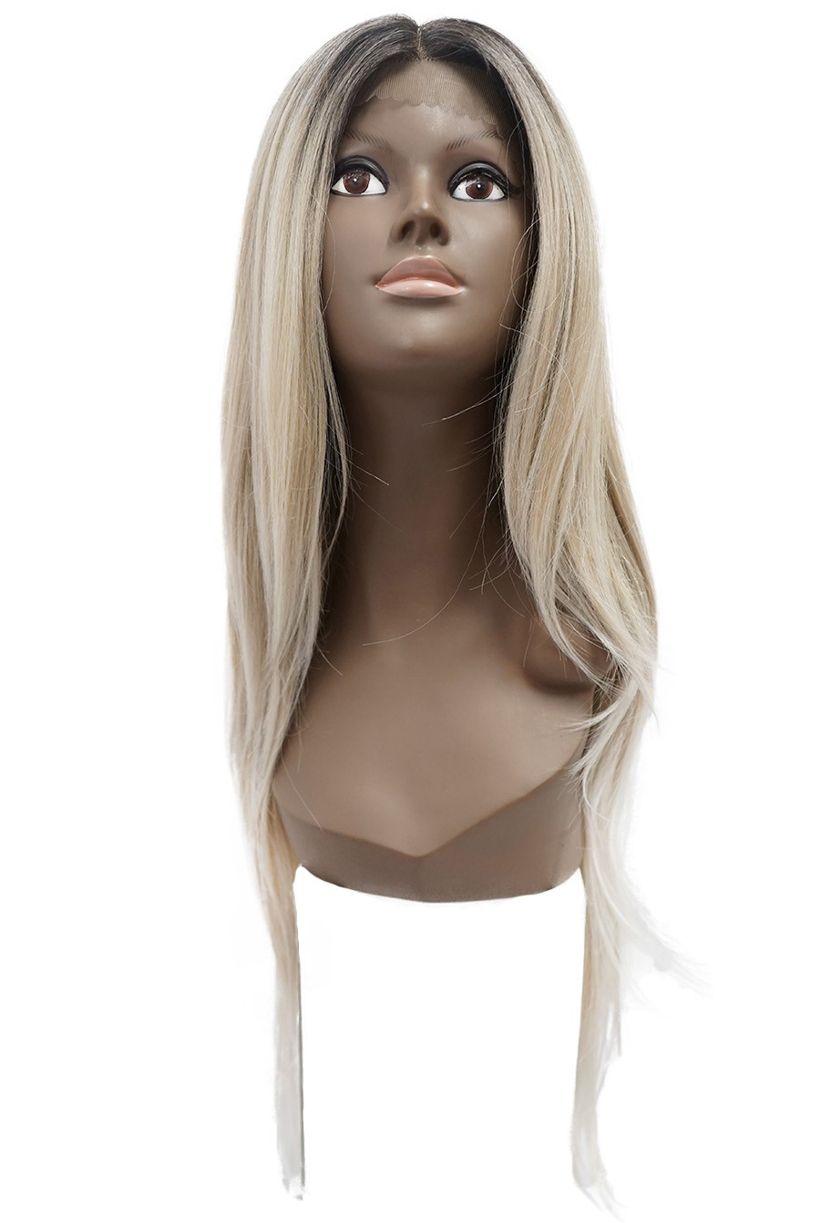 Peruca Orgânica - Front/Top Lace Sleek Wig Fashion - Riva
