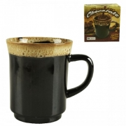 CANECA DE PORCELANA 190ML COM BORDA CHOCOLATE