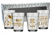 COPO AMERICANO KIT COM 4UN 190ML - CAFE