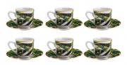 JOGO XICARA P/ CAFE TROPICAL GARDEN 90 ML 6 PCS