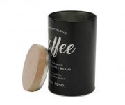 LATA DE METAL ROUND COFFEE PRETO 18CM