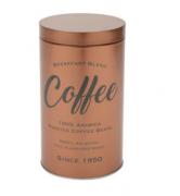 LATA EM METAL ROUND COFFEE COBRE 18 CM