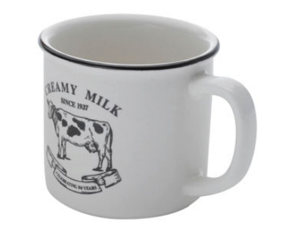 CANECA DE PORCELANA CREAMY MILK 230 ML