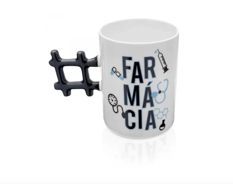 CANECA HASHTAG PROFISSAO FARMACIA