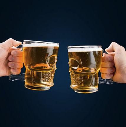 Canecao Caveira para Chopp Cerveja - 500 ml