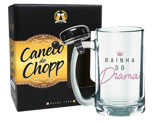 CANECO DE CHOPP COM CAMPAINHA 340ML + CX - GIRL POWER