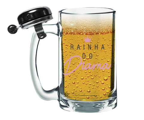 CANECO DE CHOPP COM CAMPAINHA 340ML + CX - GIRL POWER