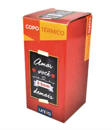 COPO TERMICO AMAR VOCE E BOM DEMAIS 450 ML