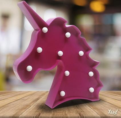 Luminaria sem fio Unicornio - pink