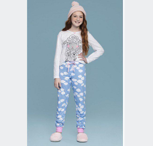 Pijama Juvenil Longo Sonhar PROMO Inverno