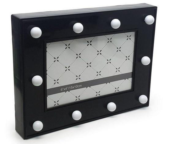 Porta Retrato Luminaria sem Fio LED - preto