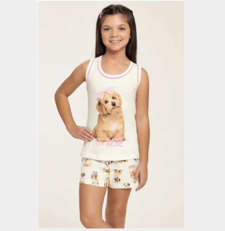 Short Doll Infantil 100% Algodão Bebê Verão 2020 MIAMI DREAMS