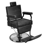 Cadeira de Barbeiro Barber Black - Pé Cromado