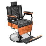 Cadeira de Barbeiro Barber Wood - Pé Cromado