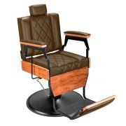 Cadeira de Barbeiro Barber Wood - Pé Preto